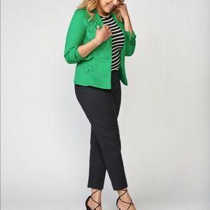 CAbi 5097 Verde Kelly Green Stretch Jacket Blazer